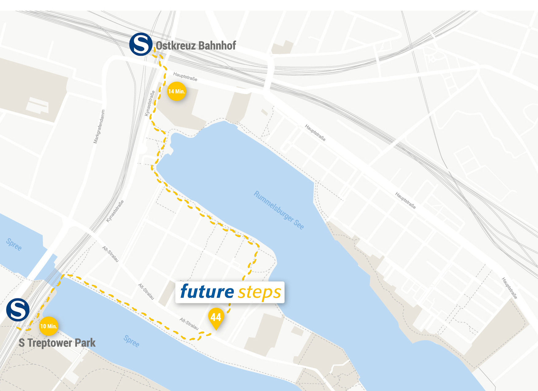 Stadtplan future steps - Unternehmensberatung
