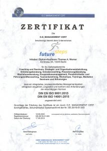 Zertifikat ISO deutsch