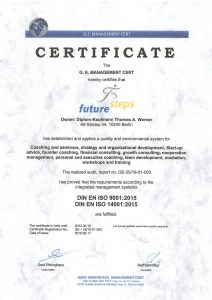 ISO Certificate future steps
