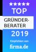 Top Gründerberater 2019, empfohlen von firma.de